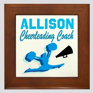 CHEERING COACH Framed Tile