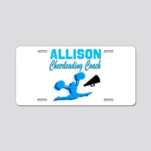 CHEERING COACH Aluminum License Plate