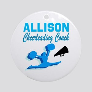 CHEERING COACH Round Ornament