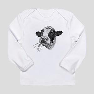 Happy Holstein Friesian Dairy Cow Long Sleeve T-Sh
