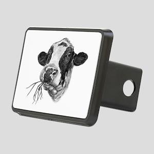 Happy Holstein Friesian Dairy Cow Rectangular Hitc