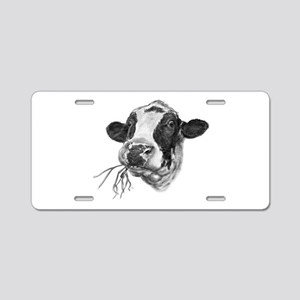 Happy Holstein Friesian Dairy Cow Aluminum License