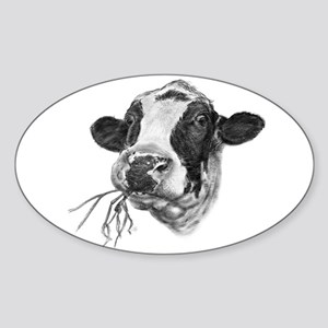 Happy Holstein Friesian Dairy Cow Sticker