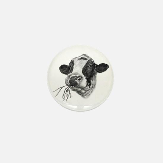 Happy Holstein Friesian Dairy Cow Mini Button