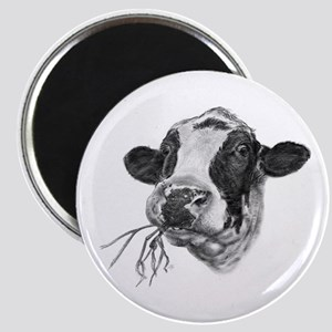 Happy Holstein Friesian Dairy Cow Magnets
