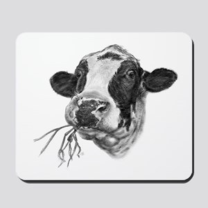 Happy Holstein Friesian Dairy Cow Mousepad