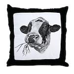 Happy Holstein Friesian Dairy Cow Throw Pillow