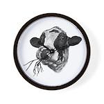 Happy Holstein Friesian Dairy Cow Wall Clock
