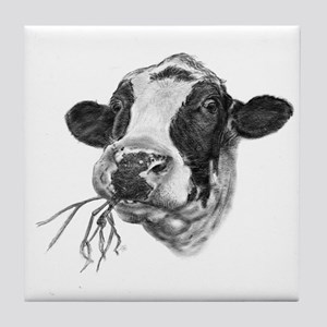 Happy Holstein Friesian Dairy Cow Tile Coaster