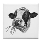 Happy Holstein Friesian Dairy Cow Tile Coaster