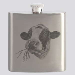 Happy Holstein Friesian Dairy Cow Flask