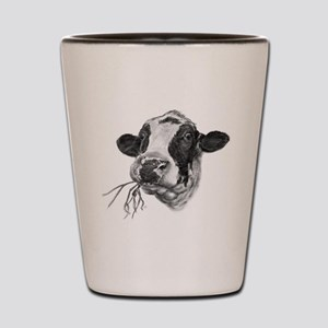 Happy Holstein Friesian Dairy Cow Shot Glass