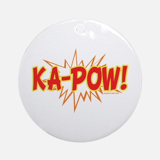 Ka-Pow Ornament (Round)
