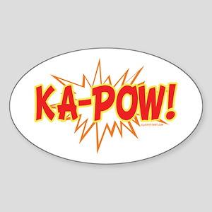 Ka-Pow Oval Sticker