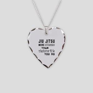 Jiu-Jitsu more awesome than w Necklace Heart Charm