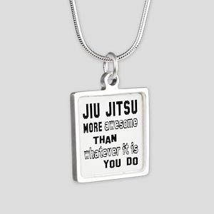 Jiu-Jitsu more awesome tha Silver Square Necklace