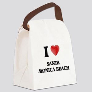 I love Santa Monica Beach Florida Canvas Lunch Bag