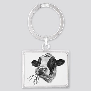 Happy Holstein Friesian Dairy Cow Keychains