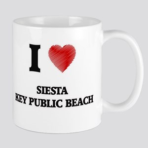 I love Siesta Key Public Beach Florida Mugs