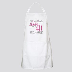 40th Birthday Gifts BBQ Apron