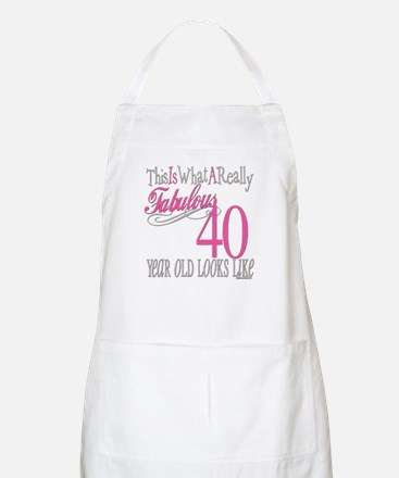 40th Birthday Gifts BBQ Apron
