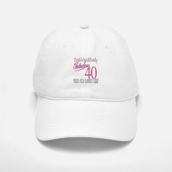 40th Birthday Gifts Baseball Baseball Cap