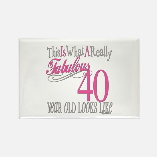 40th Birthday Gifts Rectangle Magnet