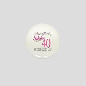 40th Birthday Gifts Mini Button