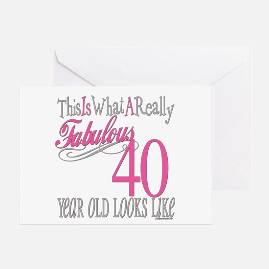 40th Birthday Gifts Greeting Card