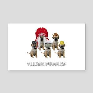 Village Puggles Rectangle Car Magnet