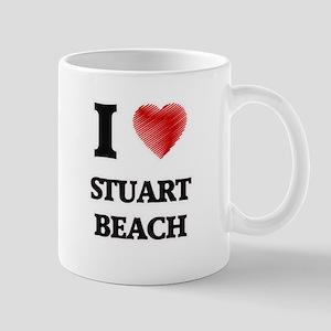 I love Stuart Beach Florida Mugs