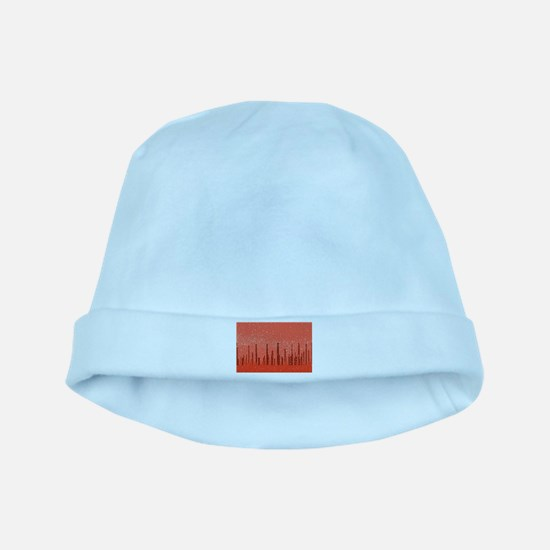 Red City Background baby hat