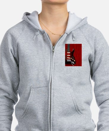 Quality Wood Guitar Zip Hoodie