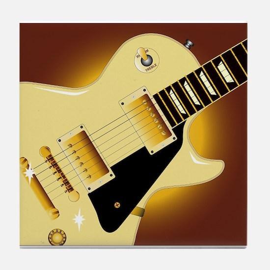 Guitar Close Up Tile Coaster