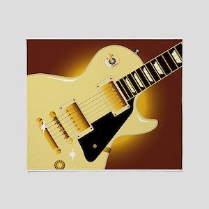 Guitar Close Up Throw Blanket