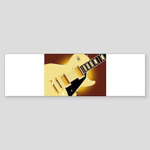 Guitar Close Up Bumper Sticker