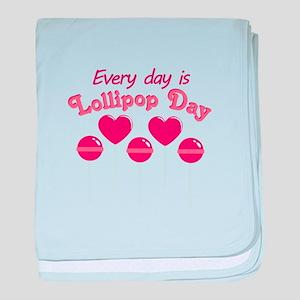 Lollipop Day baby blanket
