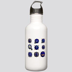 Various Aircraft Gauge Stainless Water Bottle 1.0L