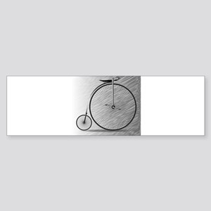 Penny Farthing Bicycle Bumper Sticker