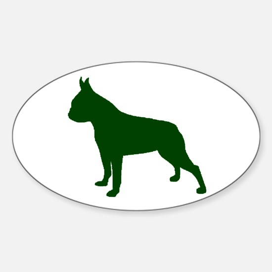 Boston Terrier Green 1C Decal