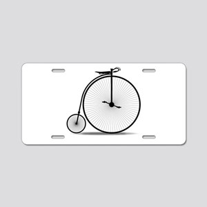 Penny Farthing Silhouette Aluminum License Plate