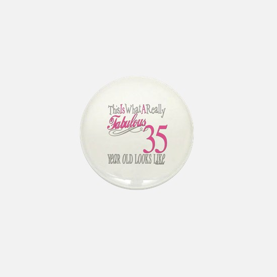 35th Birthday Gifts Mini Button