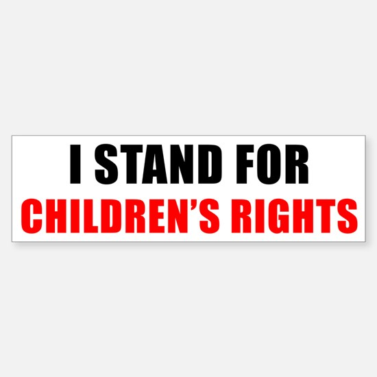 Children's Rights Bumper Bumper Bumper Sticker
