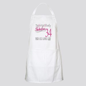 34th Birthday Gifts BBQ Apron