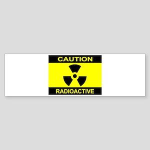 Caution Radioactive Bumper Sticker