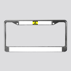 Caution Radioactive License Plate Frame