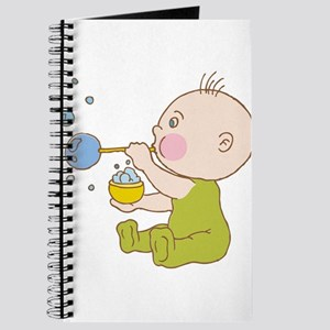 Baby cartoon blowing bubbles Journal