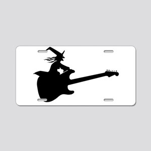 Guitar Witch Aluminum License Plate