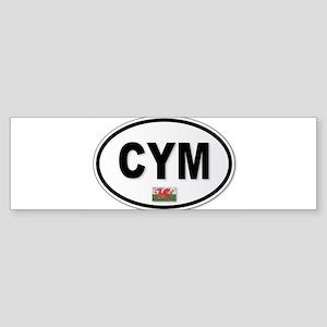 CYM Plate Bumper Sticker