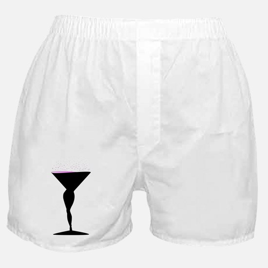 Sexy Champagne Glass Boxer Shorts